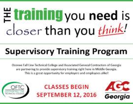 Oconee Fall Line Training Program