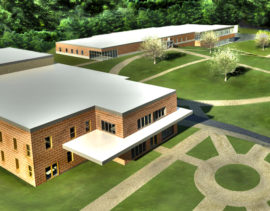 Southern Crescent Technical College Industrial and Technology building Render